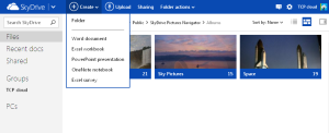 SkyDrive.com -_controls
